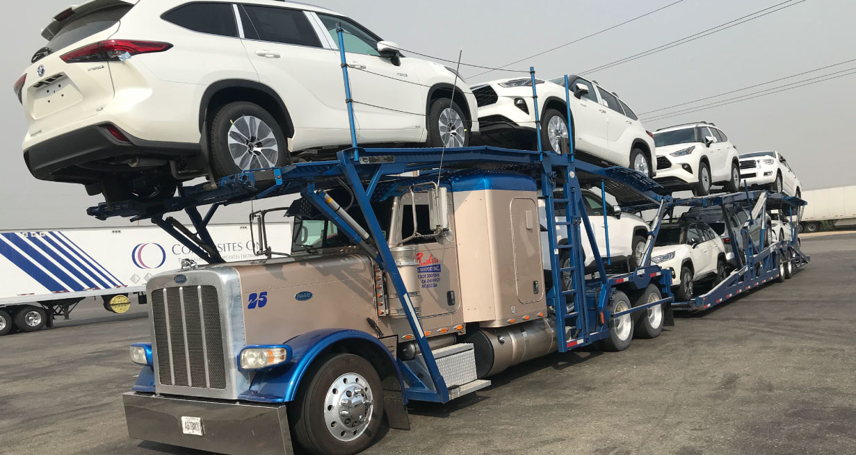 Auto transportation trucking services