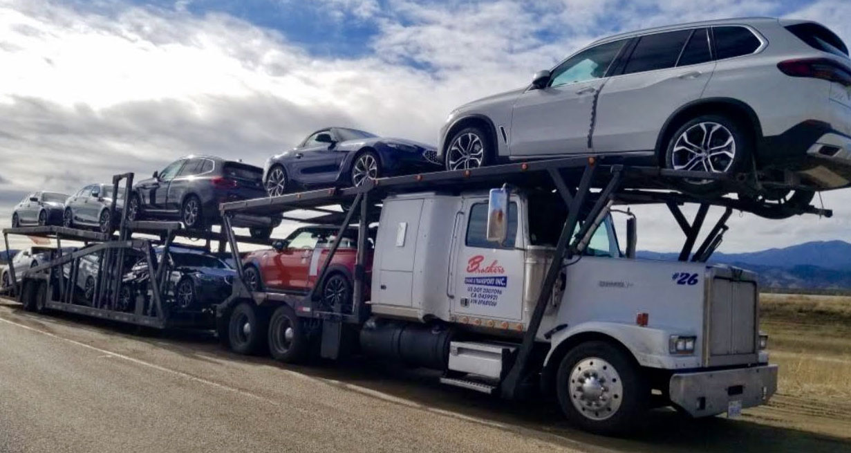 Auto transport trucking in California